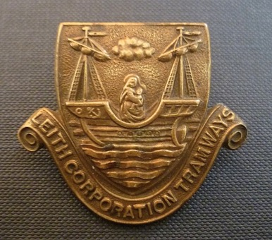 Leith Corporation Tramways cap badge